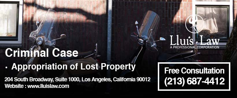 appropriation of lost property